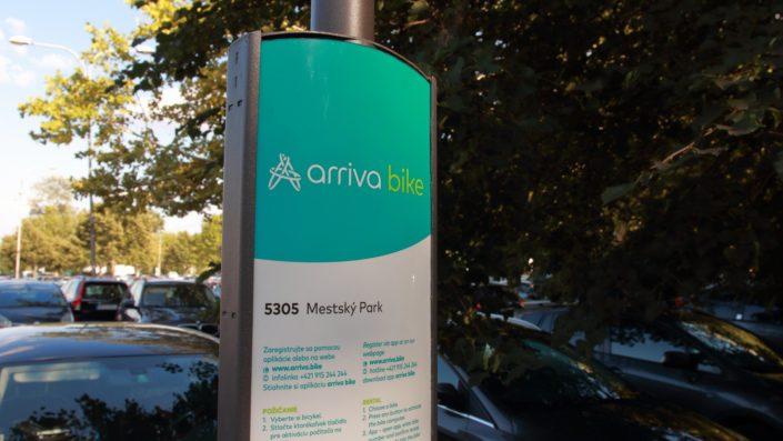 arriva bike stanovište č. 5305 - Mestský park